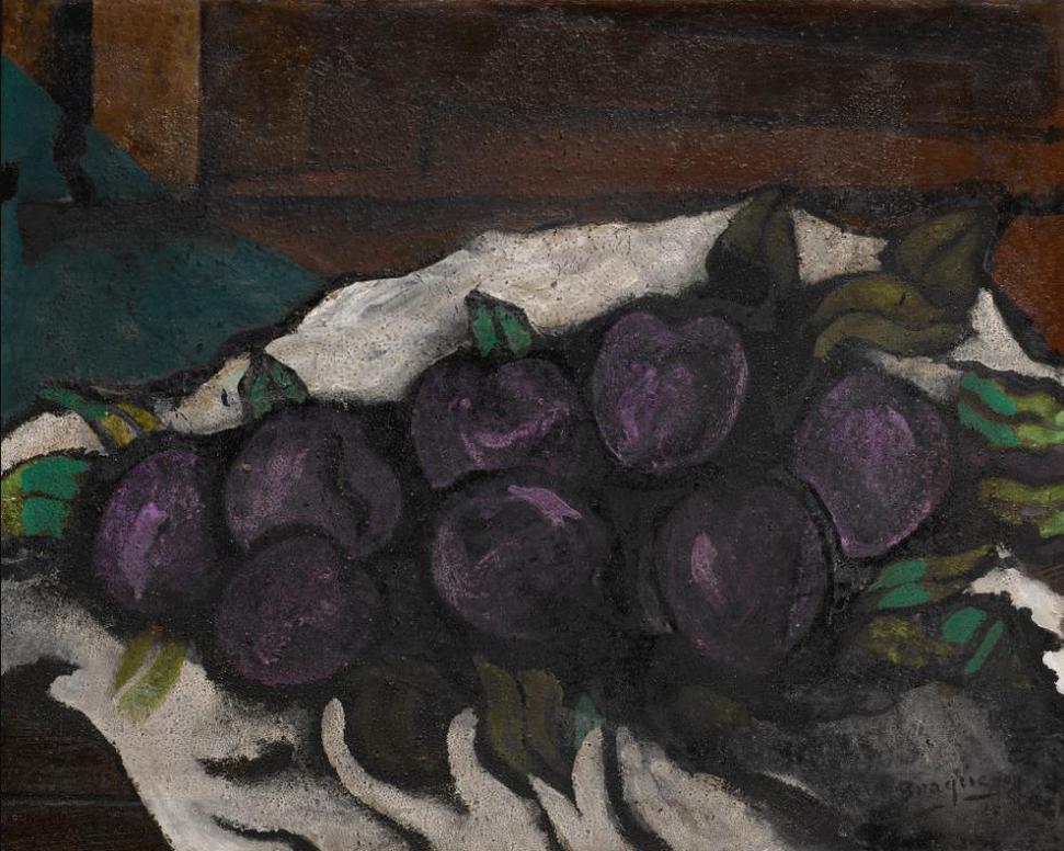 Georges Braque-Nature Morte: Prunes-1925