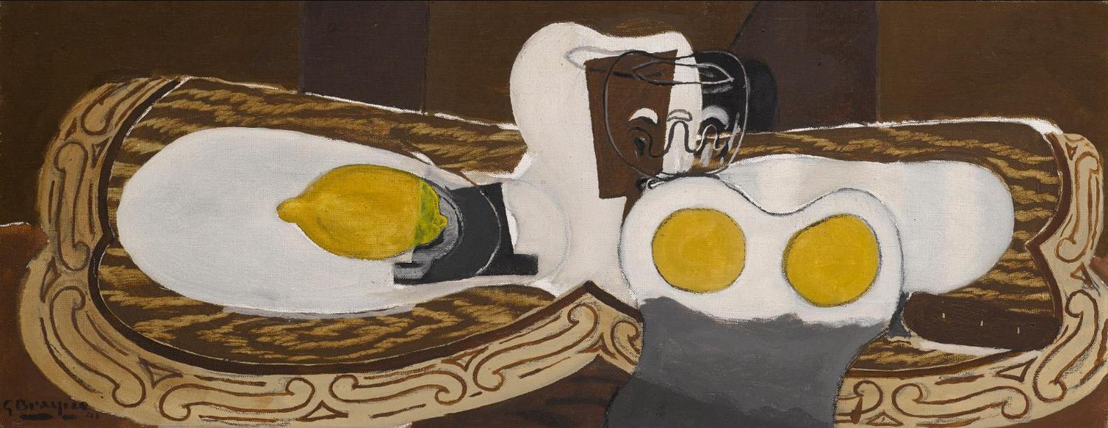 Georges Braque-Nature Morte Avec Citron Et Verre-1941