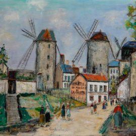 Maurice Utrillo-Les Trois Moulins-1938