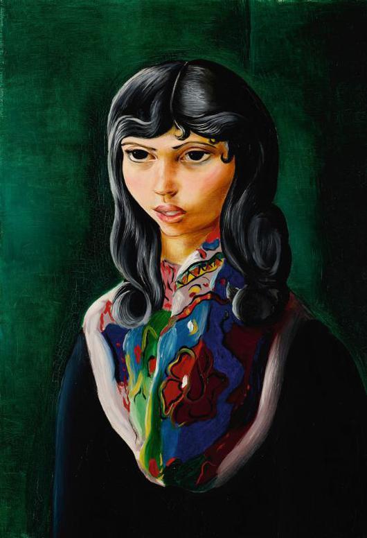 Moise Kisling-Jeune Fille Au Foulard-1939