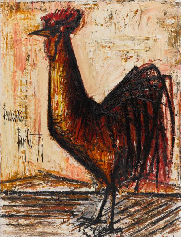 Bernard Buffet-Le Coq Rouge-1959