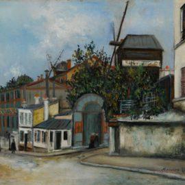Maurice Utrillo-Moulin De La Galette-1919