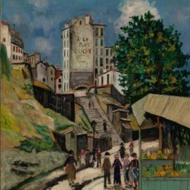 Maurice Utrillo-Rue Ronsard, Montmartre-1931