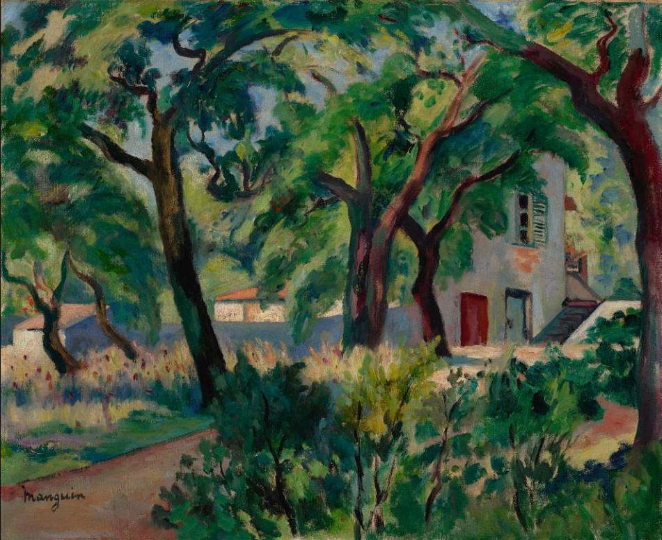 Henri Charles Manguin-La Maison Dans La Foret, Saint-Tropez-1924