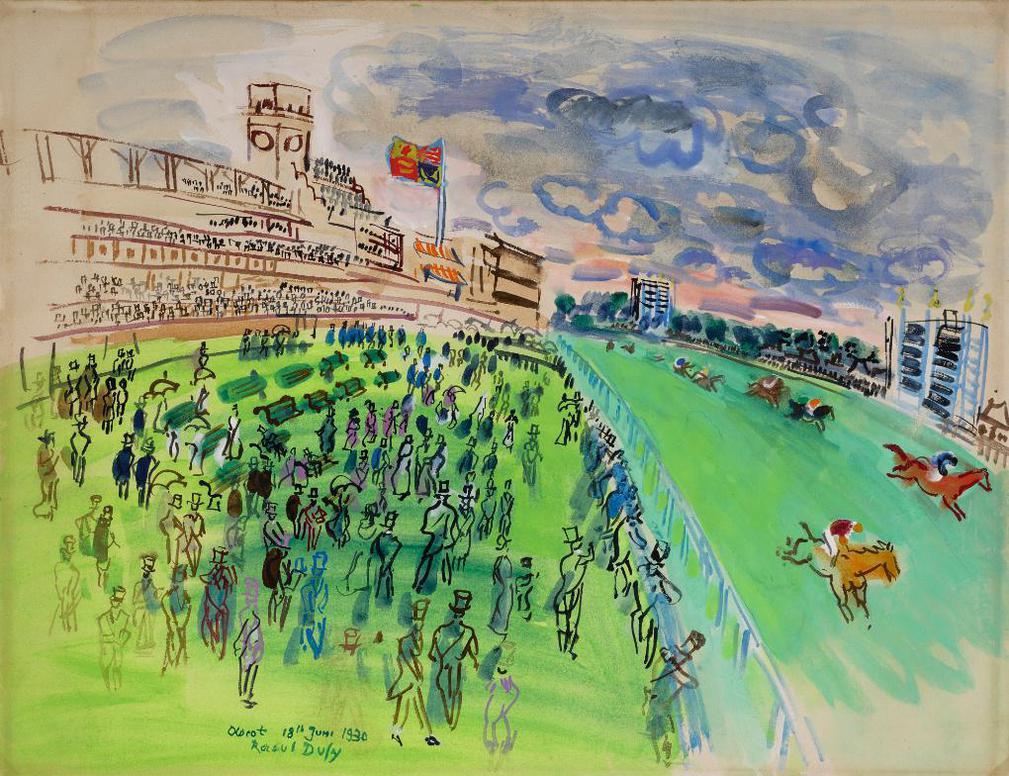 Raoul Dufy-Courses A Ascot-1930