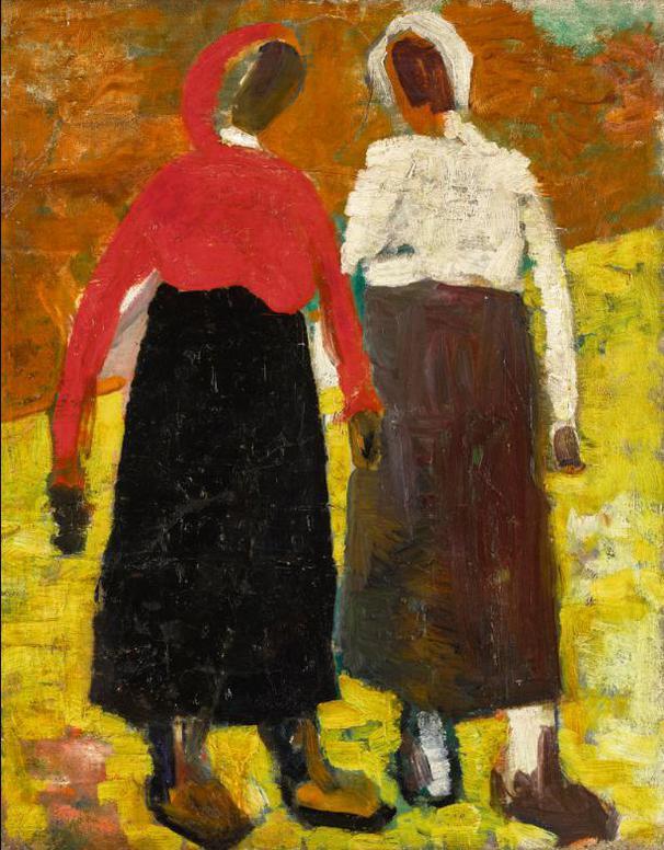 Kazimir Malevich-Two Peasant Women-1930