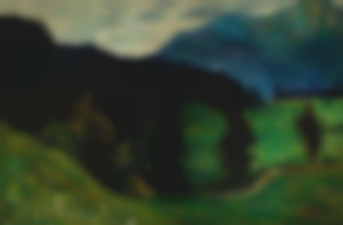 Wassily Kandinsky-Kochel—Gebirglandschaft Mit Tannen (Kochel—Mountains With Firs)-1902