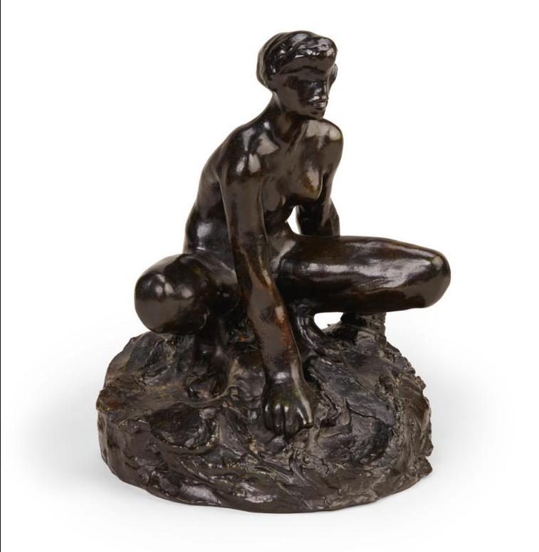 Auguste Rodin-Baigneuse Accroupie, Etude Avec Bras, Grand Modele-1885