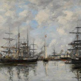 Eugene Louis Boudin-Deauville, Le Bassin-1885