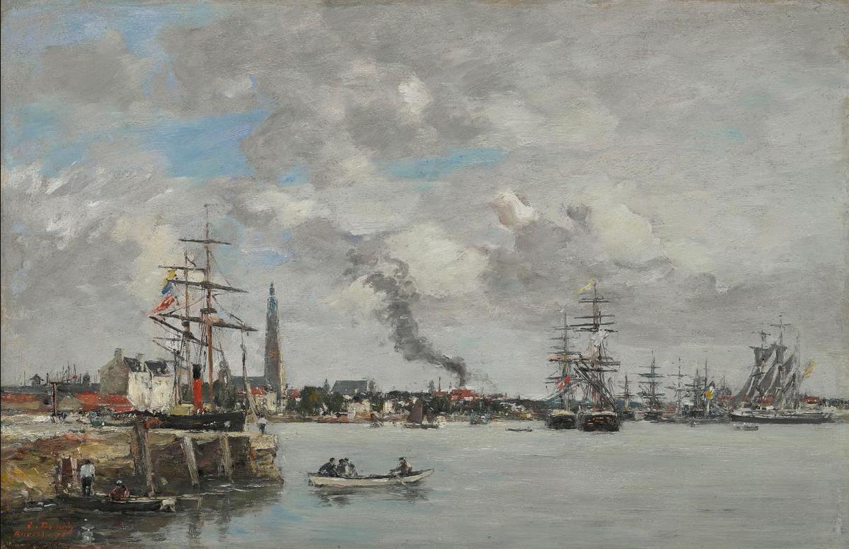 Eugene Louis Boudin-Anvers, Le Port-1871