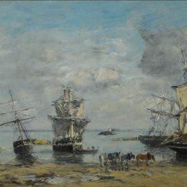 Eugene Louis Boudin-Portrieux, Maree Basse-1875