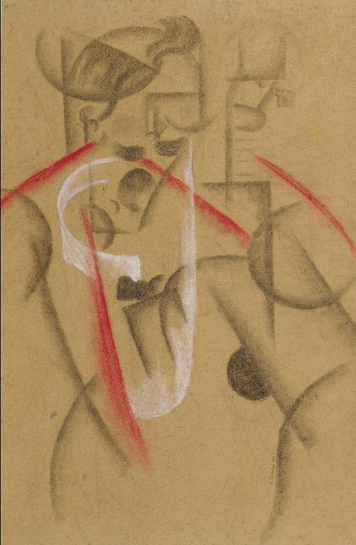 Gino Severini-Joueur De Guitare Dans Un Cabaret Parisien-1913