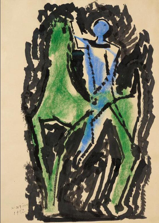 Marino Marini-Cavallo E Cavaliere (Horse And Rider)-1952