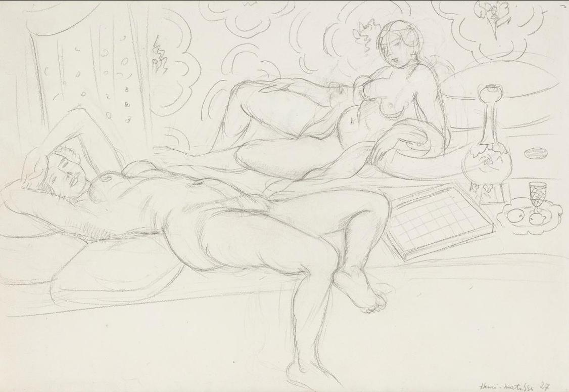 Henri Matisse-Les Deux Odalisques-1927
