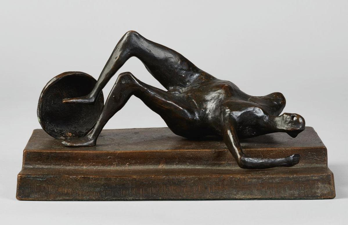 Henry Moore-Maquette For Fallen Warrior-1956