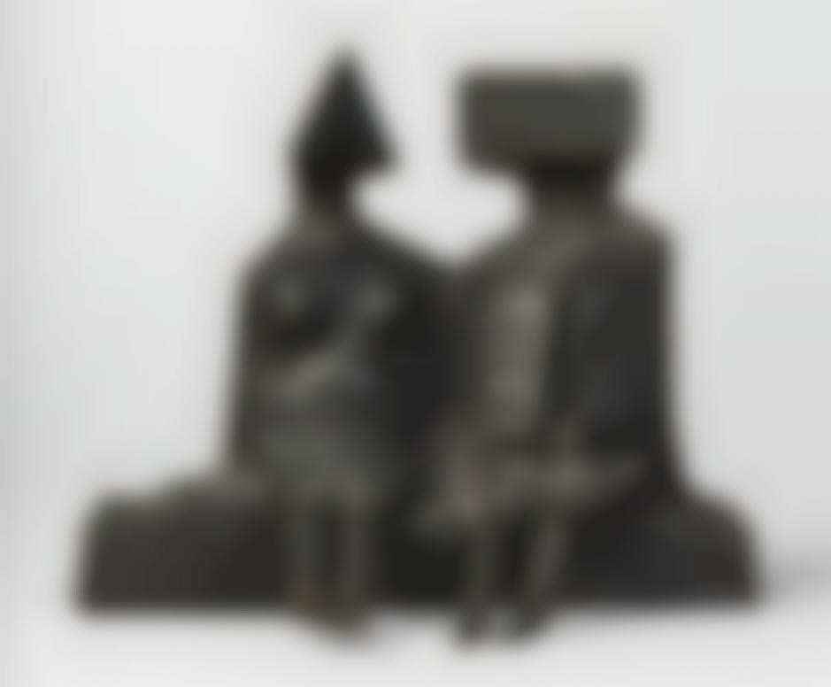 Lynn Chadwick-Sitting Couple On Base V-1975