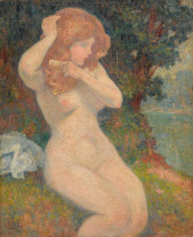 Georges d'Espagnat-Nu Dans Un Paysage-1899