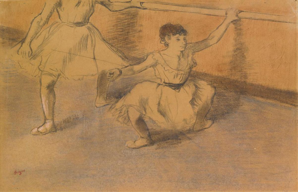 Edgar Degas-Danseuses A La Barre-1885