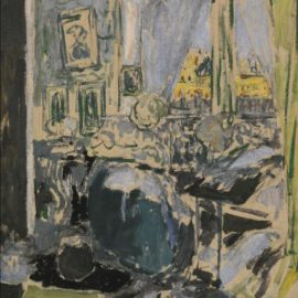 Edouard Vuillard-Madame Vuillard Cousant A Cote De La Fenetre-1910