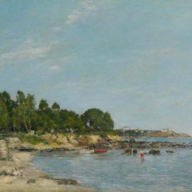 Eugene Louis Boudin-Juan Les Pins, La Baie Et Le Rivage-1893