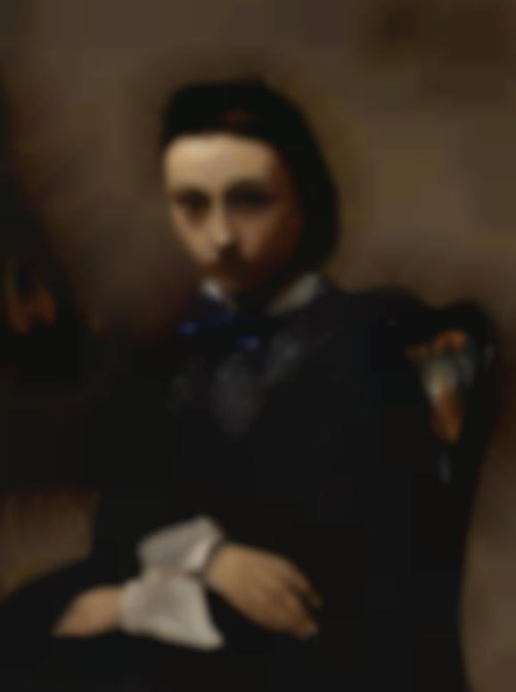 Jean-Baptiste-Camille Corot-Portrait De Jeune Femme-