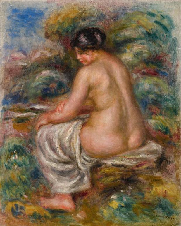 Pierre-Auguste Renoir-Baigneuse Au Linge-1915