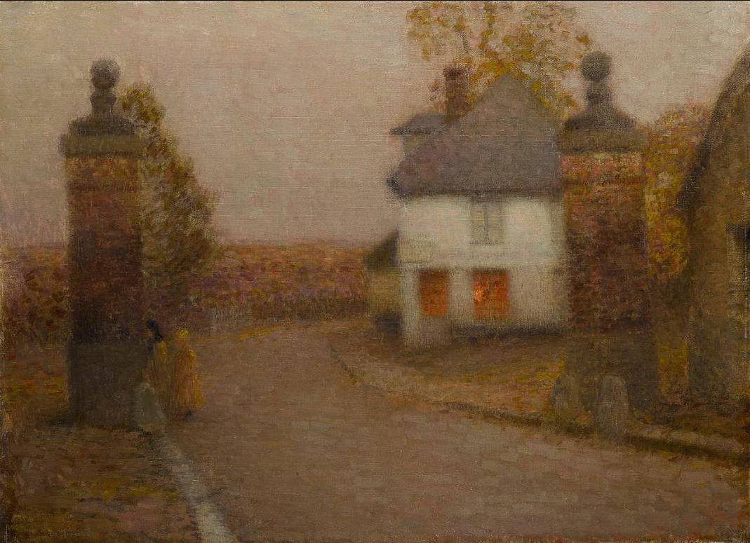 Henri Eugene Le Sidaner-Les Pilliers-1901