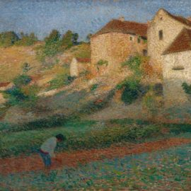 Henri Martin-Binage Dans Un Jardin A Labastide-Du-Vert-1895
