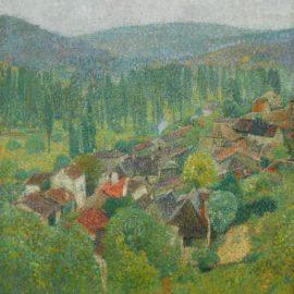 Henri Martin-Vue Des Toits De Labastide-Du-Vert En Ete-1930