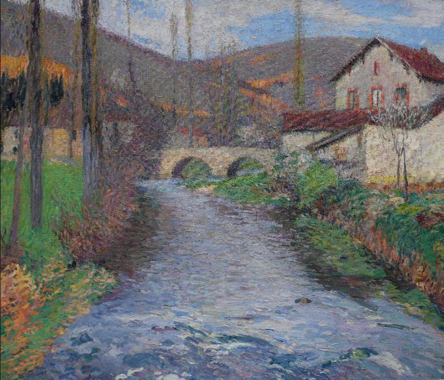 Henri Martin-Lecole Et Le Pont Sur Le Vert A Labastide-Du-Vert-1935