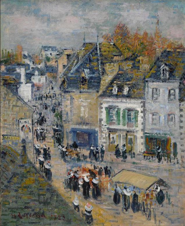 Gustave Loiseau-Marche A Pont-Aven-1922