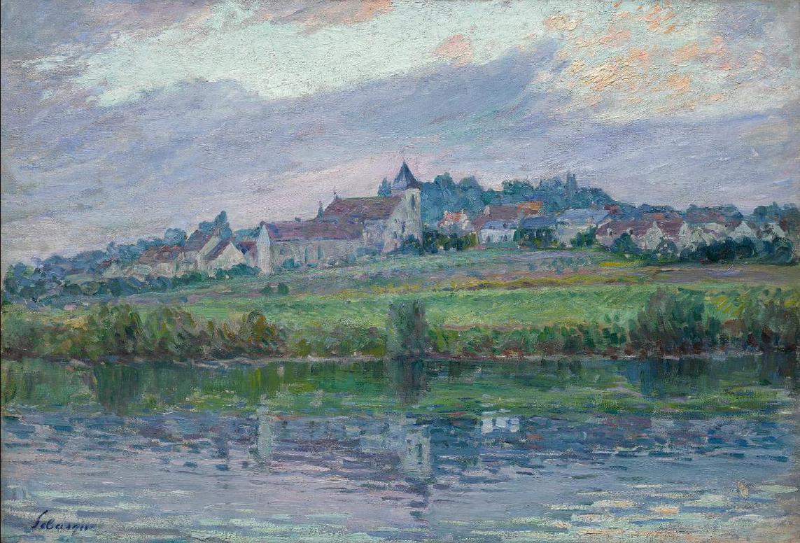 Henri Lebasque-Le Bords De La Marne Pres De Montevrain-1904