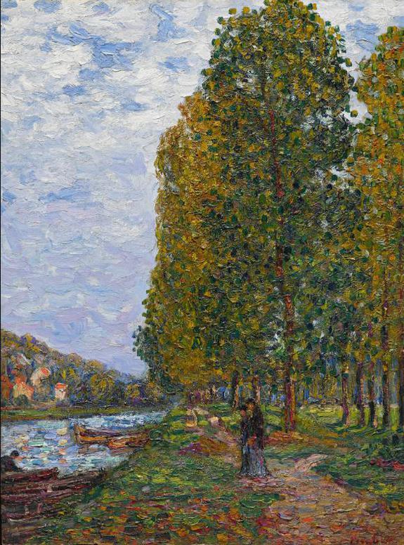 Francis Picabia-Effet Dautomne Au Bord Du Loing, Saint-Mammes-1905