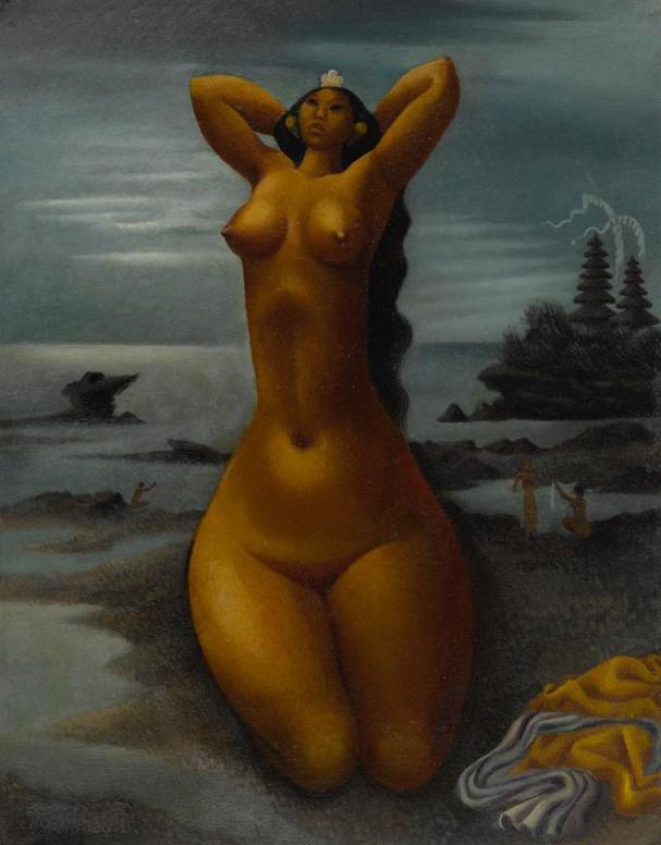 Miguel Covarrubias-Mujer En El Rio (Balinesa)-1947