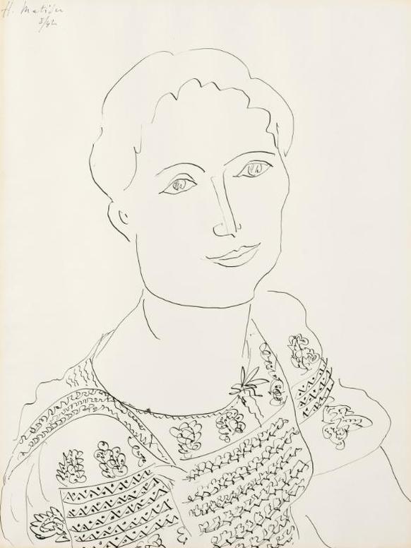 Henri Matisse-La Blouse Roumaine-1942