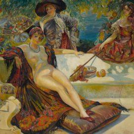 Wifredo Lam-Sin Titulo (Bano De Sol)-1923