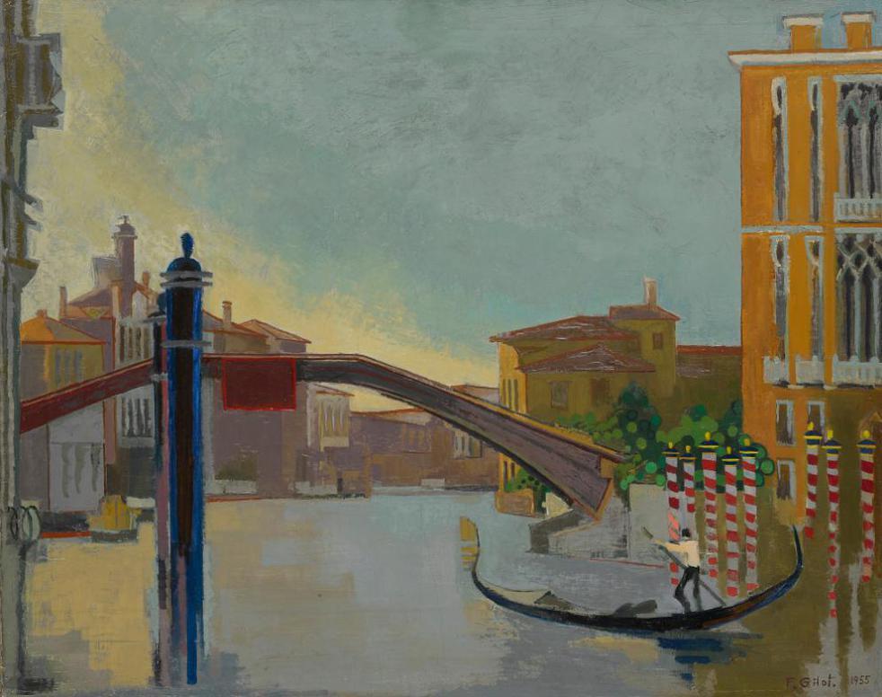 Francoise Gilot-Le Grand Canal A Lacademia-1955