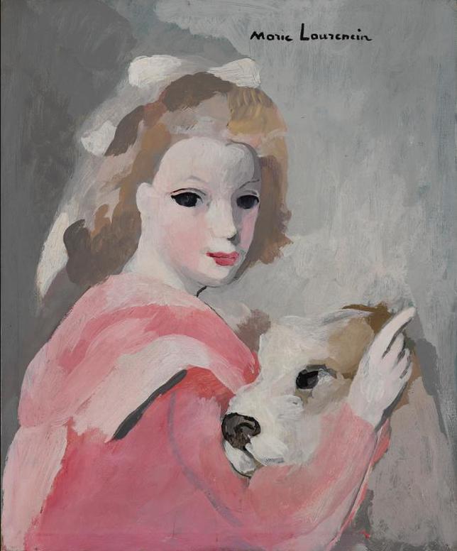 Marie Laurencin-Femme Au Caniche-