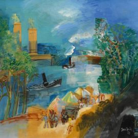 Jean Dufy-Paris, Quai De Javel-1927