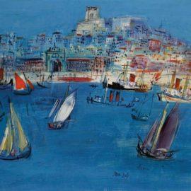 Jean Dufy-Baie De Lisbonne-1960