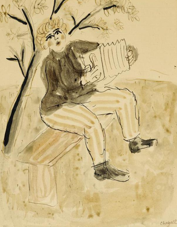 Marc Chagall-Le Musicien-1930