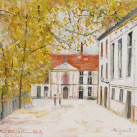 Maurice Utrillo-La Cour Colbert Et Lancienne Chapelle, Paris-1937