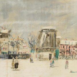 Maurice Utrillo-Montmartre-1954