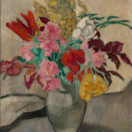 Louis Valtat-Vase Avec Bouquet De Fleurs