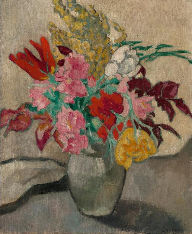 Louis Valtat-Vase Avec Bouquet De Fleurs-