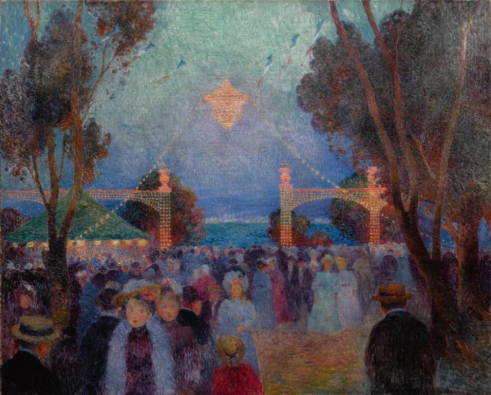 Ferdinand Du Puigaudeau-14 Juillet, Fete Forain-1898