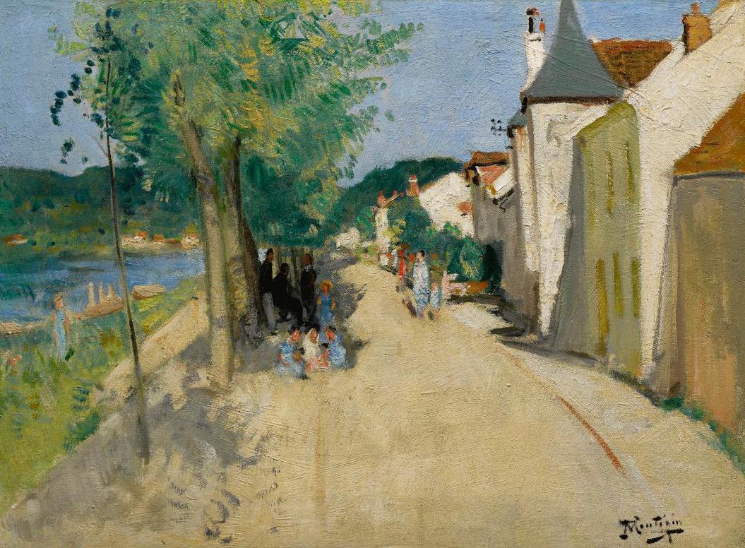 Pierre Eugene Montezin-Quai A Saint-Mammes-