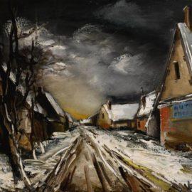 Maurice de Vlaminck-Rue De Village En Hiver