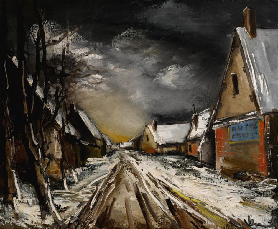 Maurice de Vlaminck-Rue De Village En Hiver-