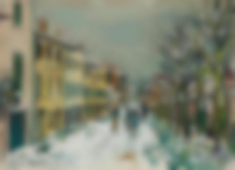 Maurice Utrillo-Rue Sous La Neige-1923
